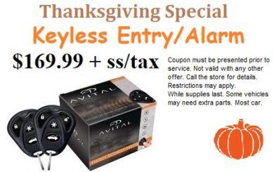 Thanksgiving keyless